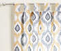 Colorado Yellow and Gray Ikat Curtain Panel Pair 84 inches swatch