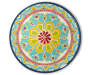Colorful Flower Melamine Dinner Plate silo front