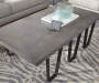 Concrete Gray Top Coffee Table lifestyle living room