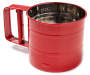 Cookworks Red 3-Cup Flour Sifter Silo