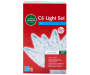 Cool White Crystallized C6 Light Set on White Wire 60 Count silo front package view