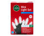 Cool White LED Mini Light Set on Green Wire 350 Count silo front package
