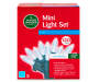Cool White LED Mini Light Set with Green Wire 120 Count silo front package