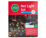 Cool White Net Light Set on Green Wire 150 Count silo front package view