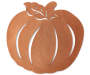 Copper Faux Leather Pumpkin Placemat silo front