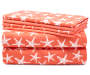 Coral Starfish Stripes 6 Piece King Sheet Set silo front