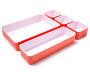 Coral and White 5 Piece Organizer Set silo front