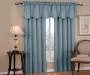 Corolo Blue Blackout Window Valance 42 inch x 21 inch lifestyle