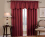 Corolo Burgundy Blackout Window Valance 42 inch x 21 inch lifestyle