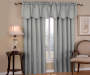Corolo Gray Blackout Single Curtain Panel  84 inch lifestyle