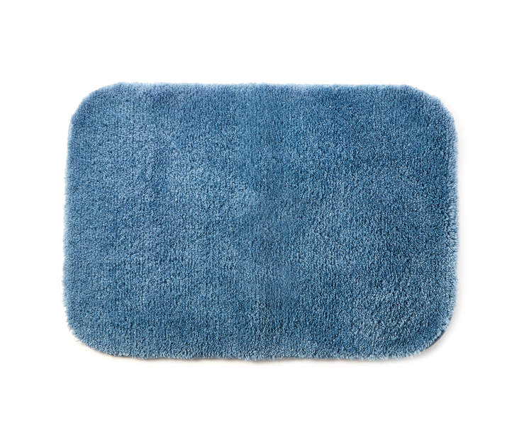 Coronet Blue Bath Rug 17 inches x 24inches silo front