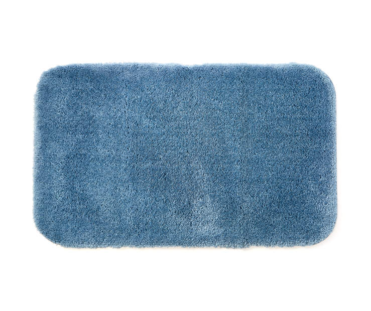 Coronet Blue Bath Rug 20 inches x 34 incges silo front