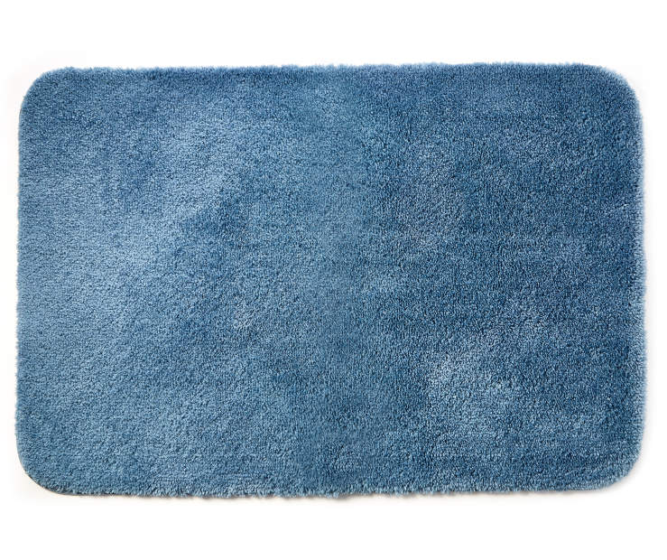 Coronet Blue Bath Rug 24 inches x 36 inches silo front