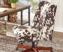 Cow Print Square Back Office Chair with Nailhead Trim lifestyle