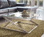Coylin Metal Asymmetric Coffee Table lifestyle