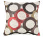 Crazy Hazy Throw Pillow Circles