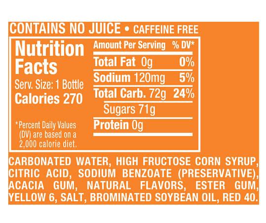 Crush Orange Soda, 20 Fl Oz Bottle