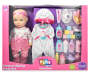 Cupcake Shirt 23 Piece Deluxe Baby Doll Set In Play Zone Packaging Front View Silo Image