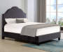 DARK GREY VELVET CUTOUT BED
