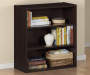 DARK RUSSET 3 SHELF BOOKCASE