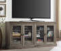 DISTRESSD GREY OAK 70IN TV STAND lifestyle
