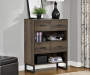 DISTRESSED BROWN OAK BOOKCASE lifestyle