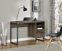DISTRESSED BROWN OAK DESK lifestyle