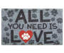 DOORMAT FASHION DELXE-ALL YOU NEED 18X30