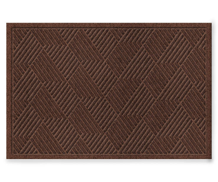 DOORMAT TEXTURE VANGUARD WALNUT 2X3