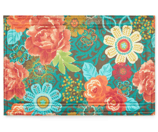 Floral Boutique Indoor Outdoor Doormat 24 X 36 Big Lots