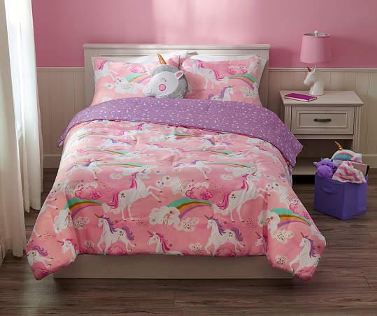 Dream Street Pink Unicorn 3 Piece Twin, Pink Unicorn Bedding Twin