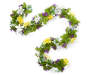 Daffodil and Daisy Flower Chain Garland 6 feet Silo Front View