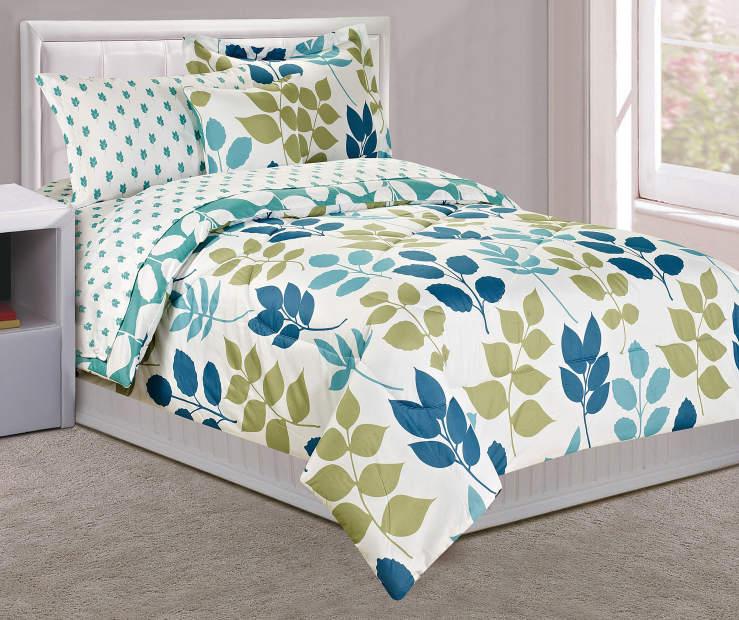 Dan River Green Amp Blue Leaf Print Comforter Sets Big Lots