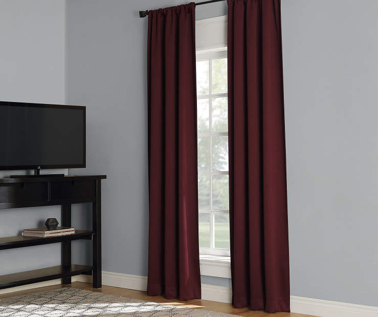 Dane Cabernet Red Curtain Panel Pair 84 inches Window LIfestyle