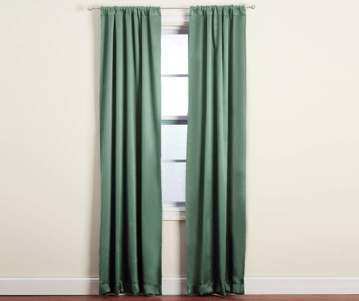 Dane Sage Blackout Curtain Panel Pair 84 inches Window Lifestyle