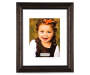 Dark Bronze Matted Scoop Picture Frame 11 inch x 14 inch silo front