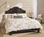 Dark Gray All In One Scalloped Queen Bed bedroom setting