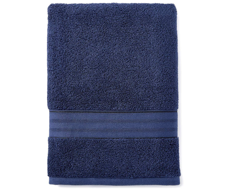 Dark Navy Bath Towel silo front