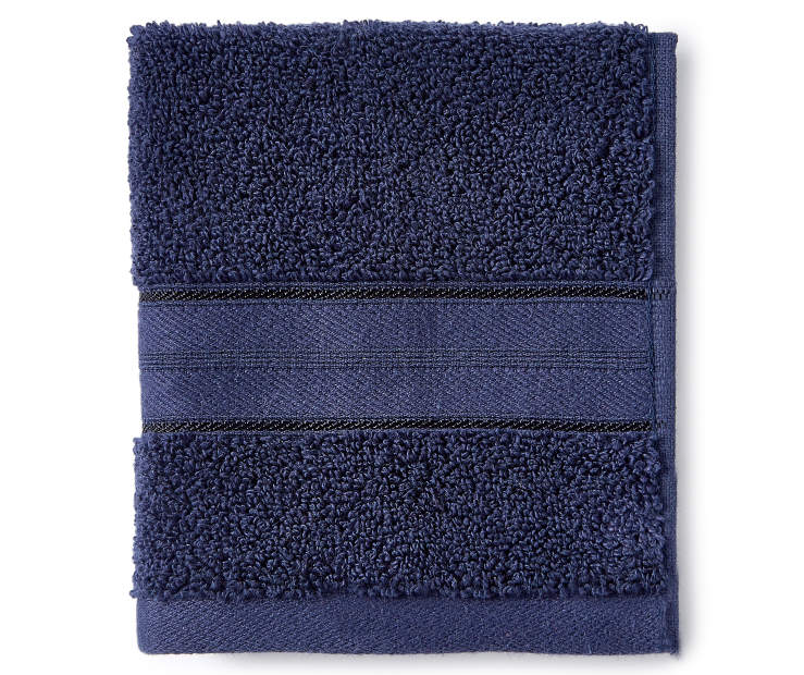 Dark Navy Wash Cloth silo front