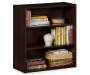 Dark Russet 3-Shelf Bookcase Decorated Silo Image
