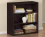Dark Russet 3-Shelf Bookcase Room View