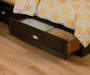 Dark Russet Cherry Twin Mate Storage Bed Detail Drawer Pull Room View