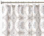 Darma Tan and White Medallion Fabric Shower Curtain 72 Inches on Shower Rod Silo Image