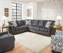 Dawson Denim Left Arm Facing Chaise Sectional lifestyle living room