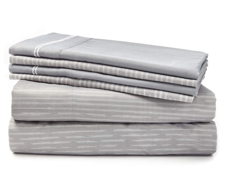 Deacon Gray 6-Piece King Sheet Set Silo