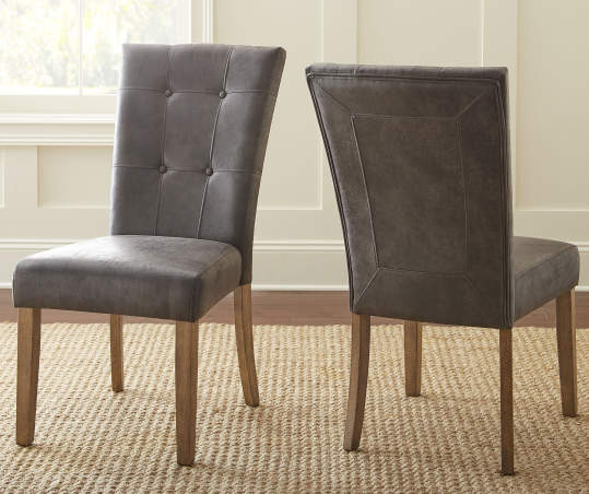 Debby Gray Upholstered Dining Chairs 2 Pack Big Lots