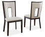 Delano Faux Leather Dining Chairs 2 Pack Silo