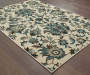 Delta Ivory Area Rug 3FT10IN x 5FT5IN Silo Image On Wood Floor