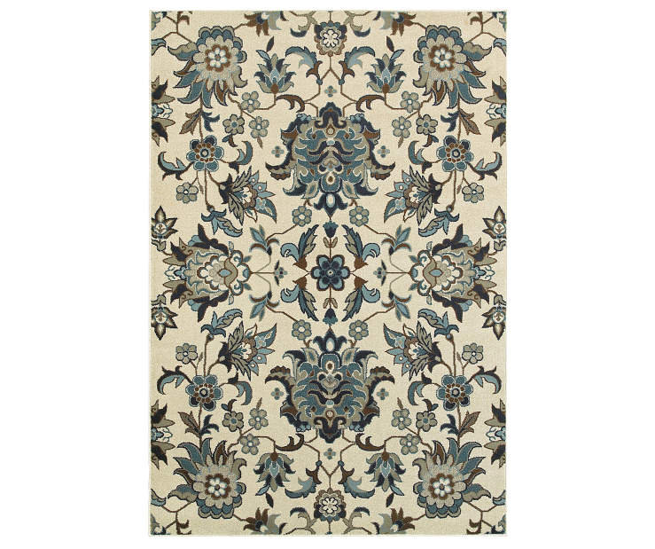 Delta Ivory Area Rug 6FT7IN x 9FT6IN Silo Image