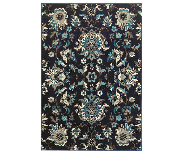 Delta Navy Area Rug 5FT3IN x 7FT6IN Silo Image